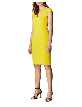 Angular Seamed Sheath Dress by Karen Millen