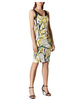 Strappy Floral Sheath Dress by Karen Millen