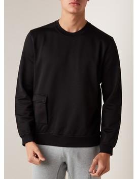 60107 Sweater Met Opgestikte Zak by Stone Island