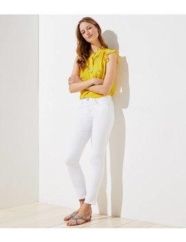 Modern Slim Pocket Skinny Crop Jeans In White by Loft