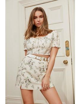 The Way It Grows Floral Mini Skirt by Nasty Gal
