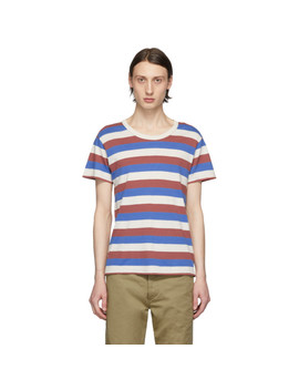 Multicolor Striped A Line T Shirt by Visvim