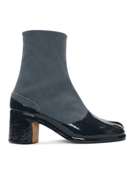 Blue & Navy Tabi Boots by Maison Margiela