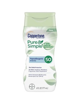 Coppertone Pure & Simple Sunscreen Lotion   Spf 50   6oz by Spf 50