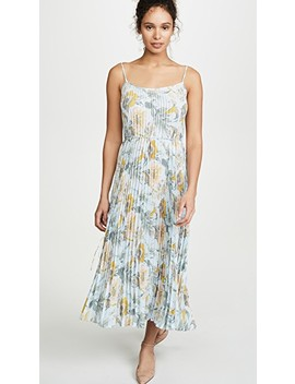 Marine Garden Pleated Cami Dress by Vince