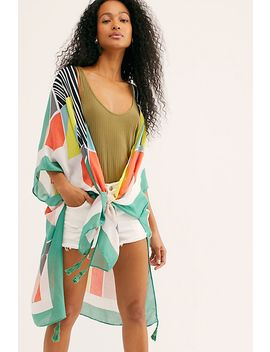 Geo Jungle Print Kimono by Free People