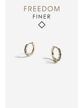 Freedom Finer Mini Link Hoops by Topshop