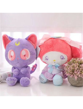 Sailor Moon 25th Japan Sanrio Luna X Sanrio My Melody Plush Doll Toy Gift 2 Pcs by Unbranded