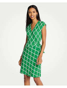 Petite Lattice Knit Wrap Dress by Ann Taylor