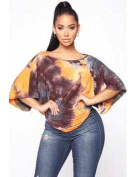 Day Dream Tie Dye Top   Orange/Combo by Fashion Nova