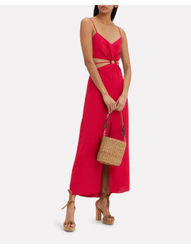 O Ring Cut Out Maxi Dress by Fifth & Mode