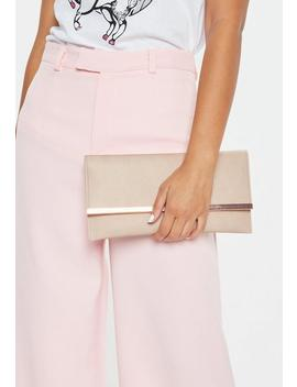 Nude Faux Leather Metal Trim Bag by Missguided