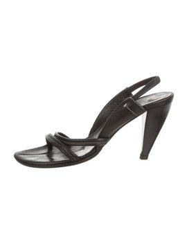 Leather Slingback Sandals by Prada