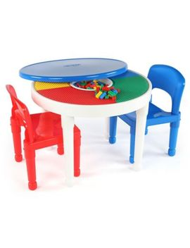 Tot Tutors 2 In 1 Lego® Compatible Activity Table And Chairs Set by Bed Bath And Beyond