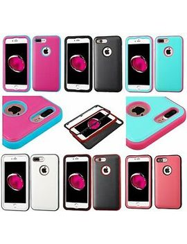 I Phone 7+/ 8+ Plus   Hybrid Shockproof Hard & Soft Rubber High Impact Case Cover by Mybat
