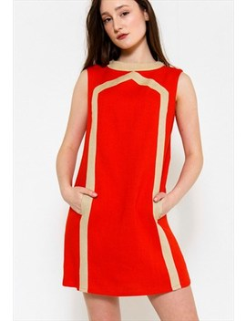 Vintage 60's Red Shift Dress by Nine Crows
