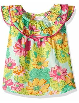 Masala Baby Baby Girls Flutter Dress Cactus Floral Multi by Masala Baby