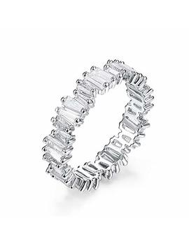 Yo Ge Fashion Aaa Cubic Zirconia Baguette Ring,Shinning, Thin Band Ring R0377 by Yo Ge