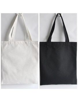 Diy Blank Canvas Tote Bag Women Shopper Shopping Shoulder Bags Foldable Reusable by Unbranded