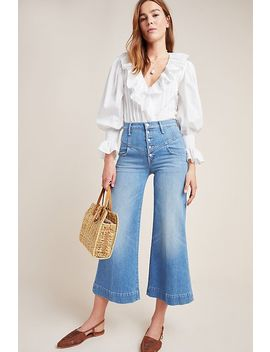 Mother The Swooner Roller High Rise Cropped Wide Leg Jeans by Mother