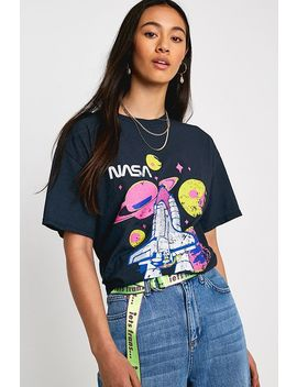 "T Shirt ""Nasa"" In Blau by Urban Outfitters"