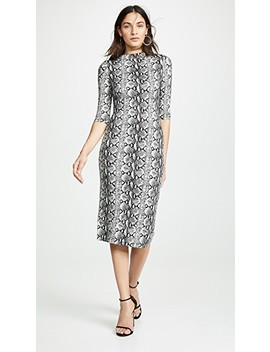 Delora Fitted Dress by Alice + Olivia