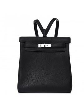 Hermes Taurillon Clemence Kelly Ado Backpack Black by Hermes