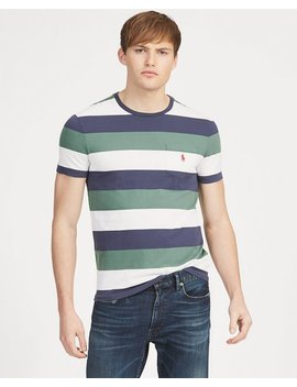 Custom Slim Fit Striped Tee by Ralph Lauren