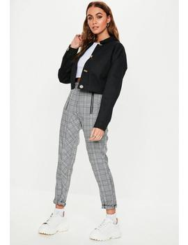 Black Cropped Utility Pocket Shacket by Missguided