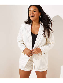 Loft Plus Pinstriped Modern Blazer by Loft
