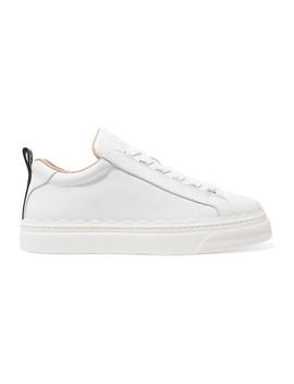 Lauren Sneakers Aus Leder Mit Wellenkanten by Chloé