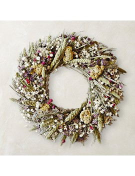 Lemon Mint Celosia Wreath by Williams   Sonoma