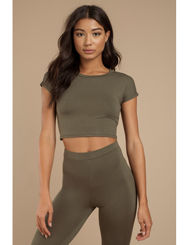 Out For Tonight Heather Grey Crop Top by Tobi