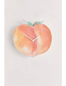 Peach Wall Clock by Urban Outfitters