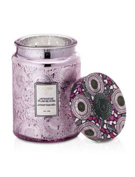 Japonica Japanese Plum Bloom Large Glass Candle by Voluspa