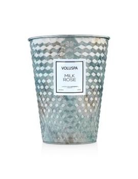 Milk Rose Embossed Large Tin Candle by Voluspa