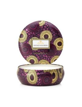 Santiago Huckleberry 3 Wick Candle In Decorative Tin by Voluspa