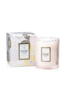Japonica Panjore Lychee Embossed Glass Scalloped Edge Candle by Voluspa
