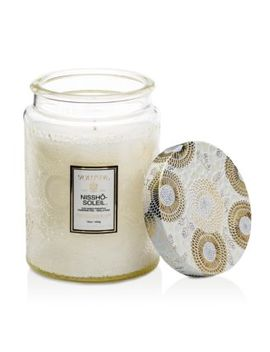 Japonica Nissho Soleil Large Glass Candle by Voluspa