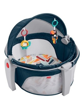 Fisher Price On The Go Baby Dome Playard   Gray by Price On The Go Baby Dome Playard
