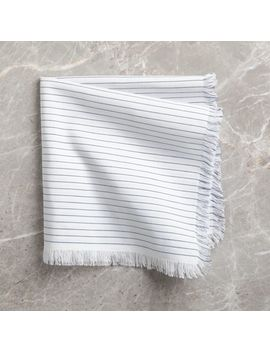 Modern Stripe Fringe Napkin by Crate&Barrel