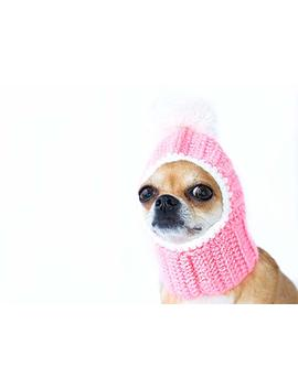Pink Dog Hat Cozy Crochet Dog Hat Warm Winter Dog Hat Puppy Chunky Hat Small Knitted Dog Hat Dog Costume Knit Dog Clothes Dogs Hats For Dogs X Small/Small/Meduim by Amazon