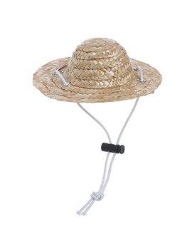 Buyitnow Pet Sombrero Straw Hat Adjustable Hawaii Garden Sun Bucket Cap For Small Dogs Cats by Buyitnow
