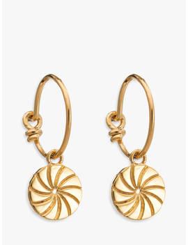 Rachel Jackson London Textured Circle Hoop Earrings, Gold by Rachel Jackson London