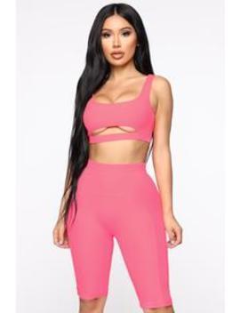 Happy With You Set   Pink by Fashion Nova