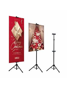 Huazi Double Sided Poster Stand,Floorstanding Sign Stand For Display,Height Adjustable Up To 73 Inches (Stand Only) by Huazi