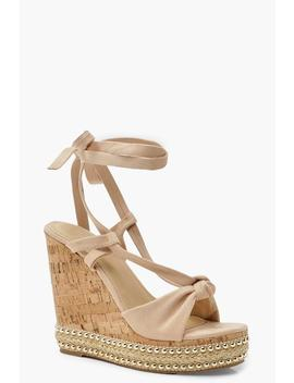 Knot Front Wrap Wedges by Boohoo