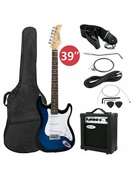 "Zeny 39"" Full Size Electric Guitar With Amp, Case And Accessories Pack Beginner Starter Package, Blue Ideal Christmas Thanksgiving Holiday Gift by Zeny"