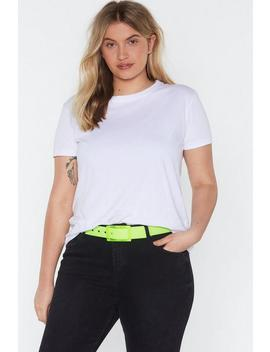 All Eyes Neon You Clear Buckle Belt by Nasty Gal