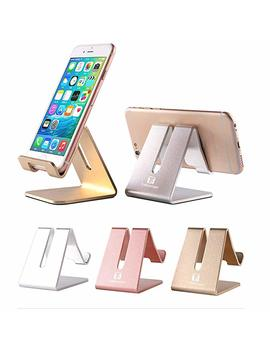 Desktop Cell Phone Stand Holder, To Beoneer Aluminum Solid Portable Universal Desk Stand For All Mobile Smart Phone Tablet Display Huawei I Phone X 8 7 6 Plus 5 Ipad 2 3 4 Ipad Mini Samsung (Silver) by Tobeoneer
